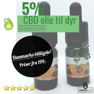 2 x Kæledyr-Cannabis CBD Olie, 5% 10 ml. Danmarks billigste
