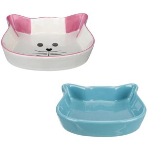 Keramik madskål med kattemotiv
