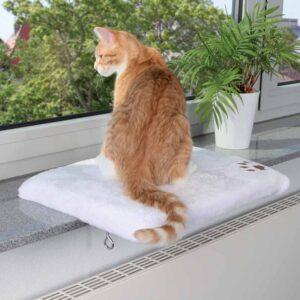 Liggeplads til kattens favoritplads ved vinduet