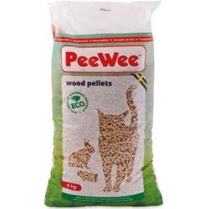 PeeWee træpiller, 14 liter/9 kg - biologisk nedbrydelige kattegrus