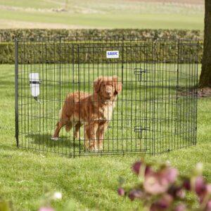 Savic Dog Park hundegårde i sort farve - 3 størrelser